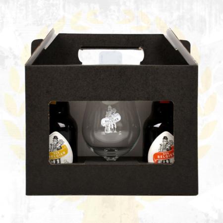 Der Belgier Brewing Geschenkbox mit Saison, Honey I Love You Honig Dubbel und Der Belgier Brewing Glas im Bier Online Shop kaufen