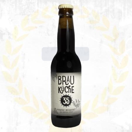 Brauküche 35 Pirates Breakfast BIO Coffee Stout aus Schalladorf Österreich im Craft Bier Online Shop bestellen - Craft Beer online kaufen