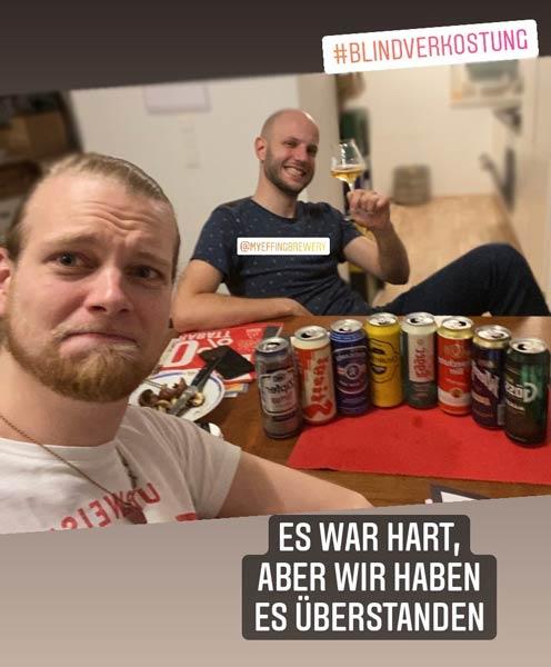 Eine Blindverkostung Bierverkostung österreichischer Dosenbiere, die es in sich hat.