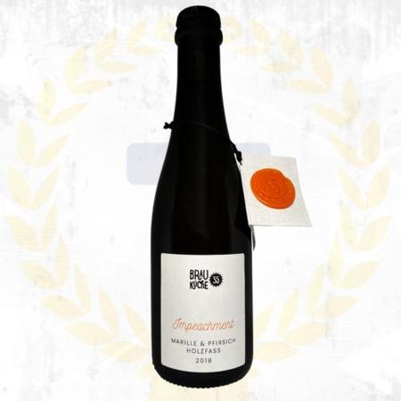 Brauküche 35 Impeachment Marille Pfirsich Holzfass 2018 Sauerbier Oak Barrel Aged aus Schalladorf Österreich im Craft Bier Online Shop bestellen - Craft Beer online kaufen