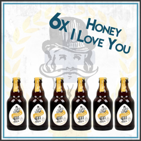 Der Belgier Brewing 6er Honey I Love You Bierpaket Honey Ale im Craft Bier Online Shop bestellen - Craft Beer online kaufen